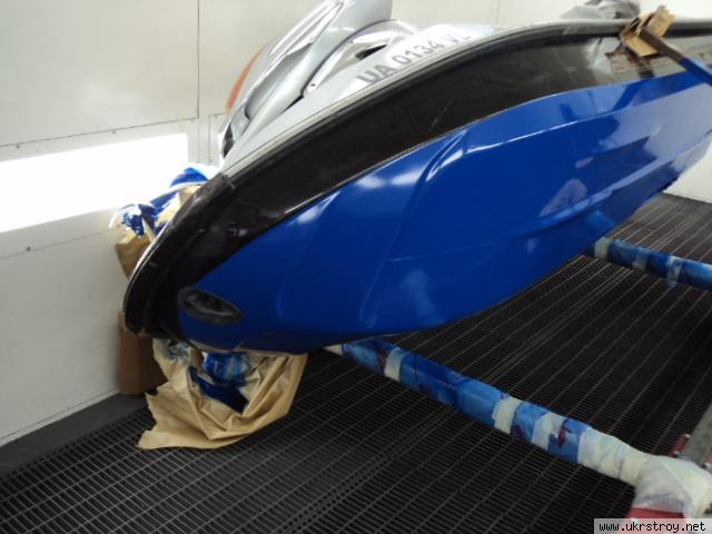 ремонт покраски пластиковой лодки