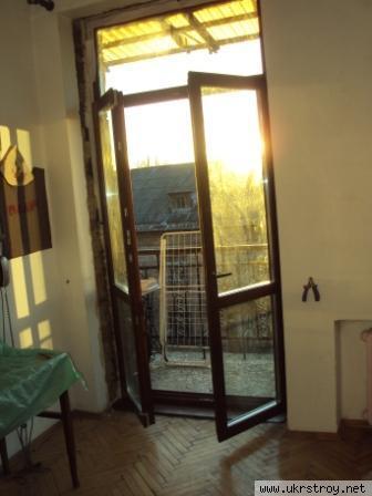 Деревянные балконные блоки, балконная дверь, выход, Киев