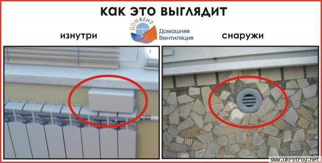 Приточный стеновой вентиляционный клапан ДОМВЕНТ, Артемовск