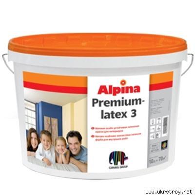 ALPINA Premiumlatex 3 B1/10 л./Матовая, Киев