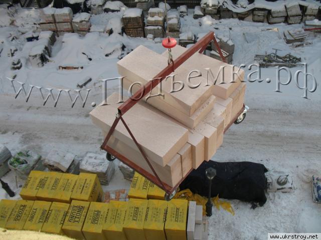 Подъем строительных материалов, Подольск