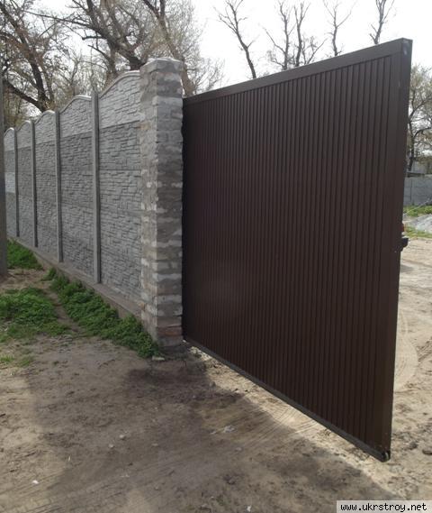 Откатные ворота - готовая продукция, Днепродзержинск