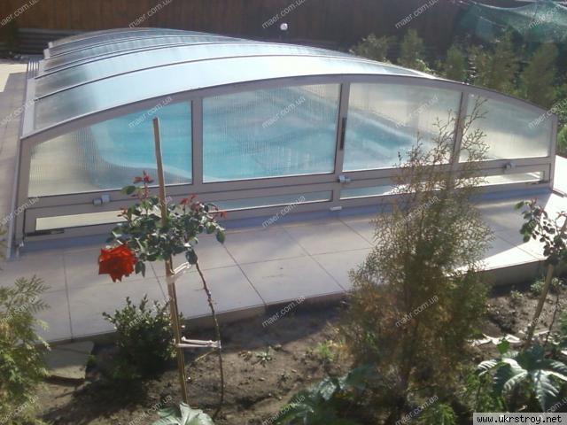 Раздвижной павильон для бассейна PRESTIGE mini, Днепропетровск