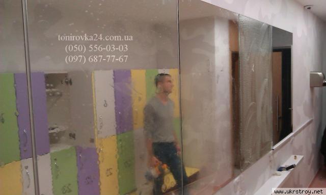 Бронирование витрин и зеркал пленкой 200микрон, Киев