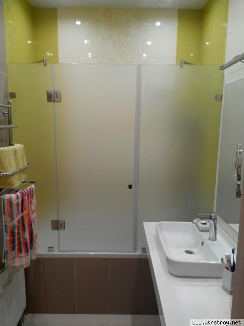 Стеклянные шторки перегородки для ванной изготовле, Харьков
