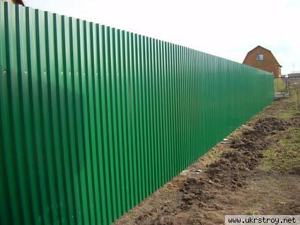Забор из профилированного листа в Донецке., Донецк