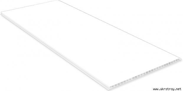Пластиковая панель 5250 мм белый лак, Запоріжжя
